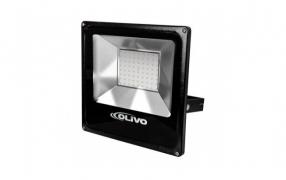 Projetor de alum�nio modelo SLIM, com LED SMD de 10W-150W OLIVO