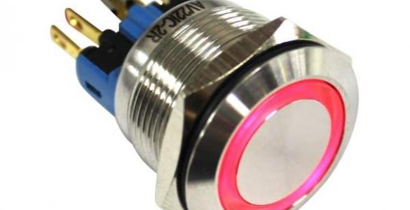 VI-R - Bot�o met�lico antivandalismo iluminado retentivo METALTEX